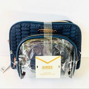 Aimee Kestenberg Navy Chelsea Cosmetic Bag Set